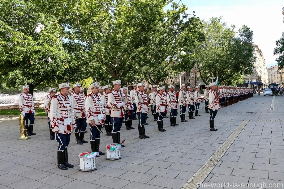 музыканты почетного караула в Софии