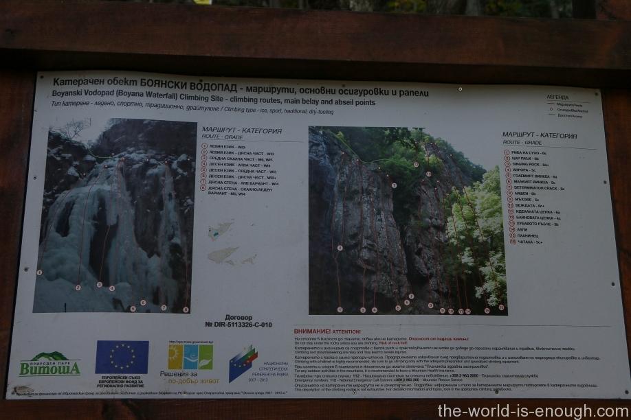 Скалолазные маршруты Боянского водопада