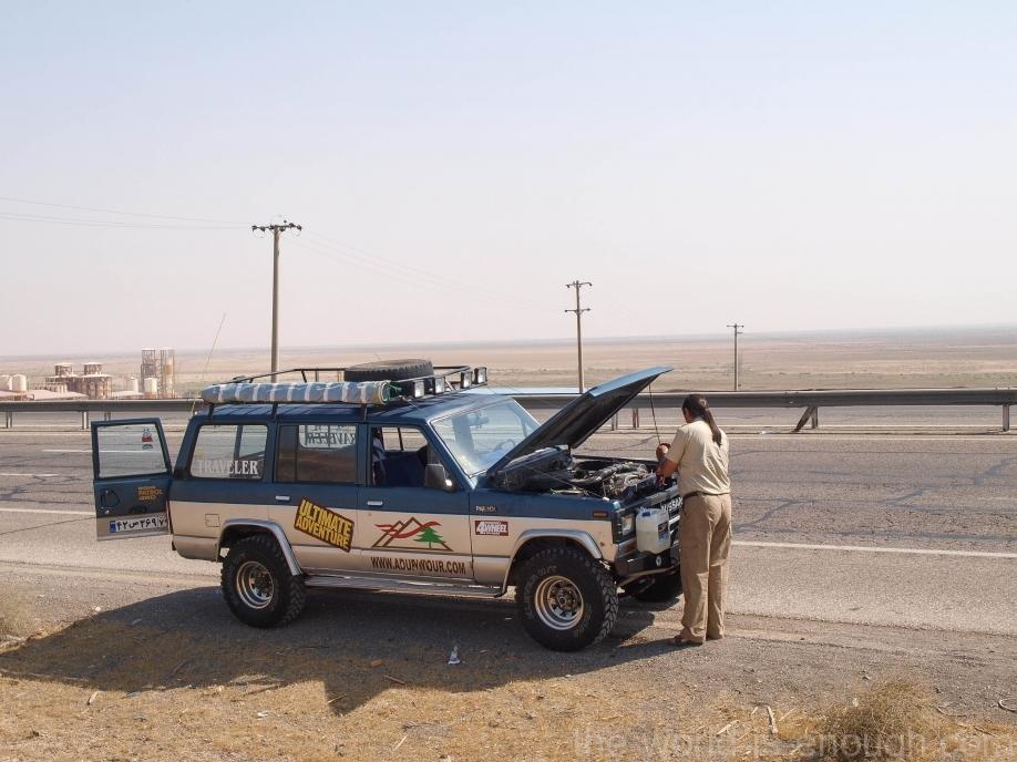 Иран, дороги, Fixing engine problems
