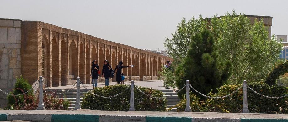 Исфахан, Мост Сио-Сеполь днем