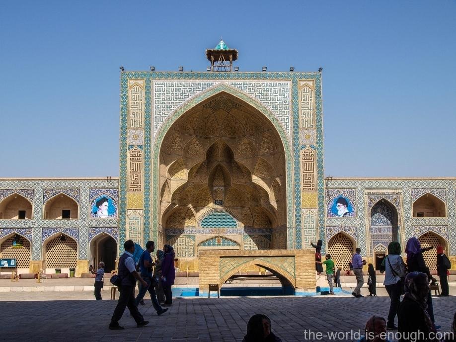 Soffeh-е Ostad - Остад (Ученик) - западный айван пятничной мечети Атиг Исфахана