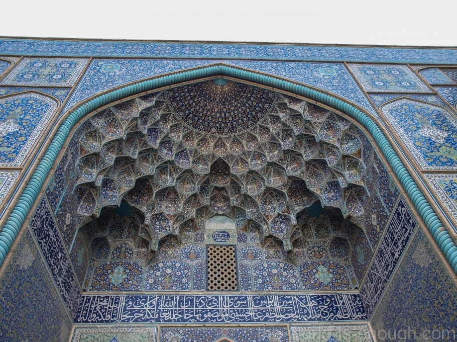 Павлиний хвост в декоре мечети Шейха Лютфуллы