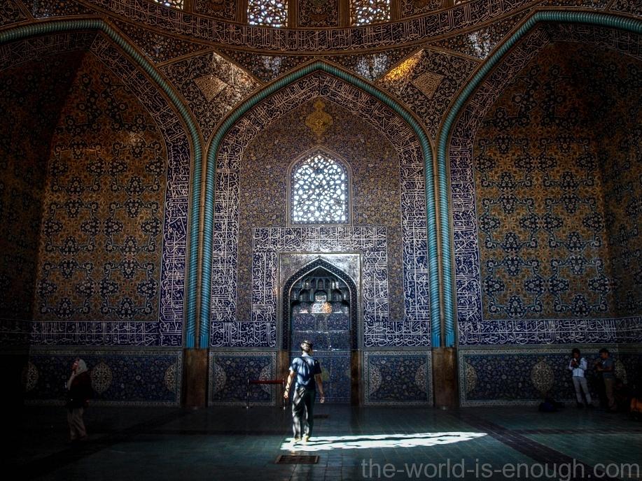 Внутри мечети Шейха Лотфуллы