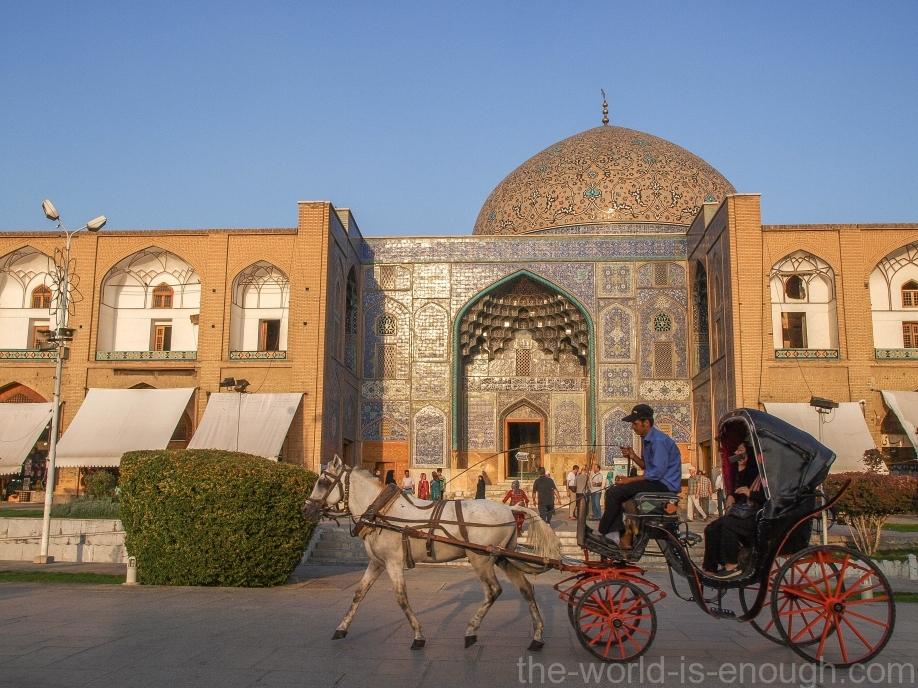 Мечеть Шейха Лютфоллы на закате