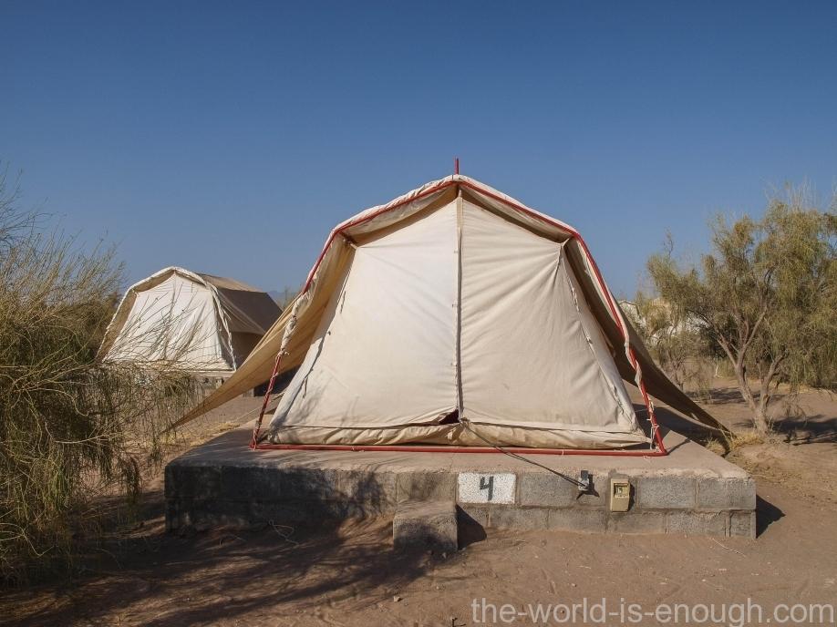 Пустыня Маранджаб, Tents in Matin Abad Desert Camp