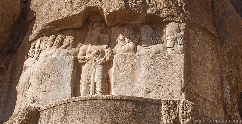 Накше-Рустам, барельеф аудиенция Бахрама II