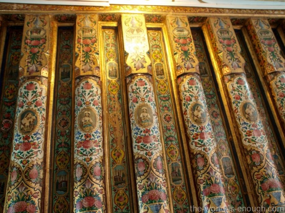 Роспись потолка гостевой комнаты дома Кавамов, Шираз