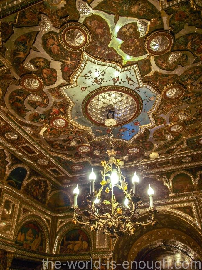 Роспись потолка Алмазного зала дворца Голестан