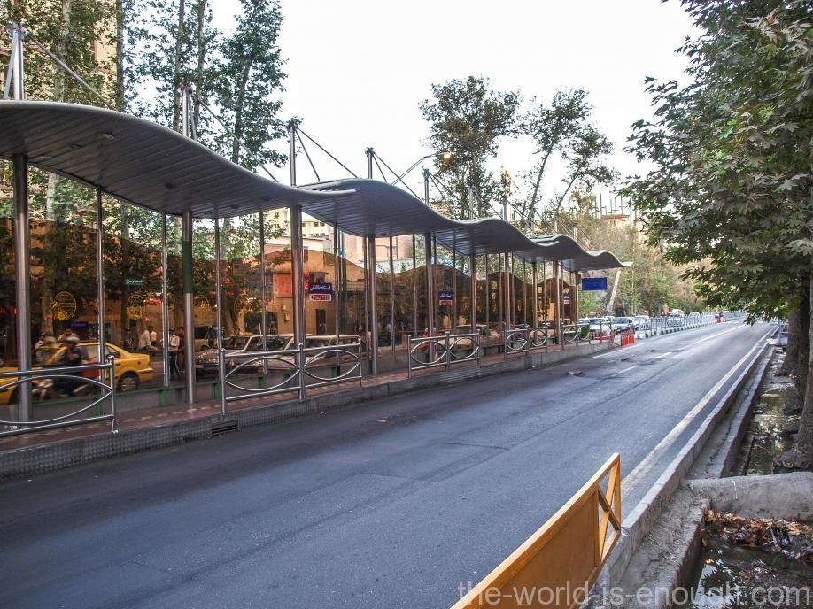 Тегеран, Tehran city bus stop