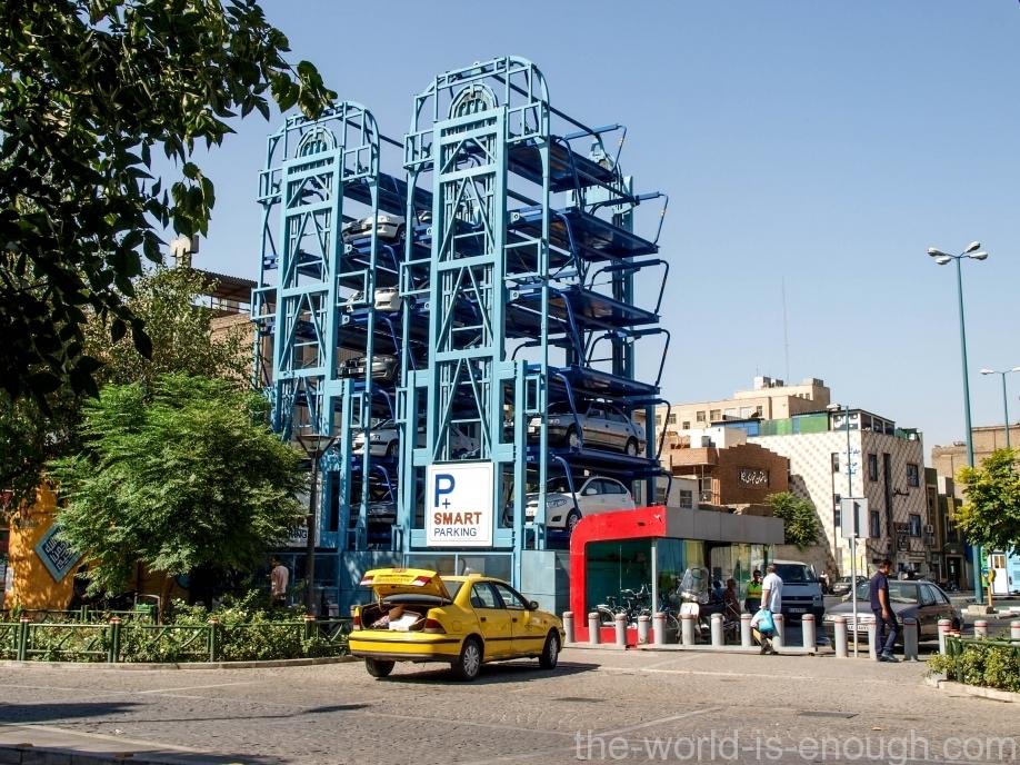 Парковка в Тегеране. Parking in Tehran