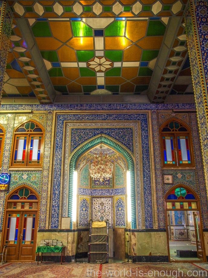 Михраб Голубой мечети Мохаммади, Йезд, Иран